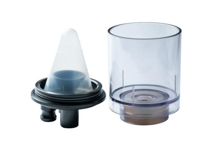 Nebelkammer mit Medikamentenbecher für Ultraschallvernebler