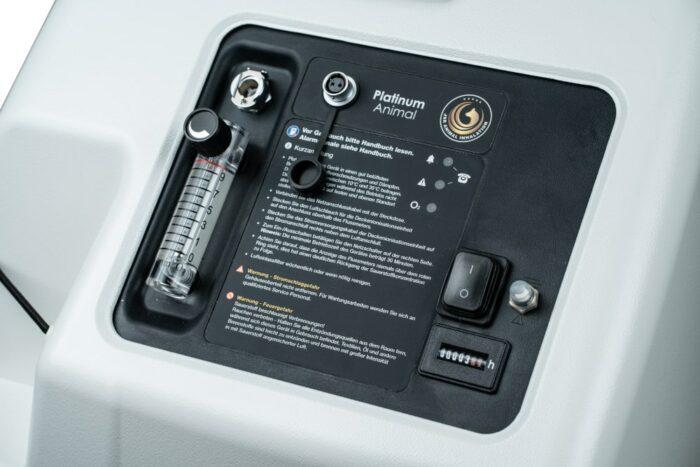 Sauerstoffkonzentrator Animal Bedienpanel